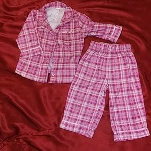 toddler flannel pajama set size 12m